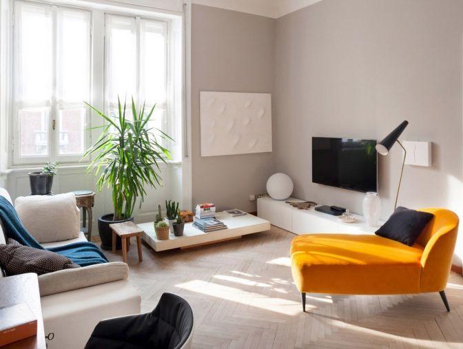 accostamento di colori in soggiorno